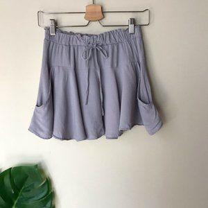 SADIE & SAGE Flowy Mini Skirt with Shorts Purple S